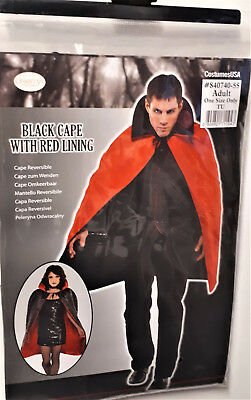 wende Umhang für Kostüm Vampir Dracula Karneval Fasching Halloween Gothic