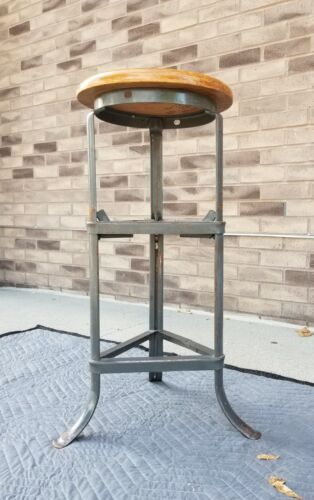 Vintage DEPENDABLE RITE HITE Stool - Industrial/Machinist/Shop- Toledo/Uhl Era