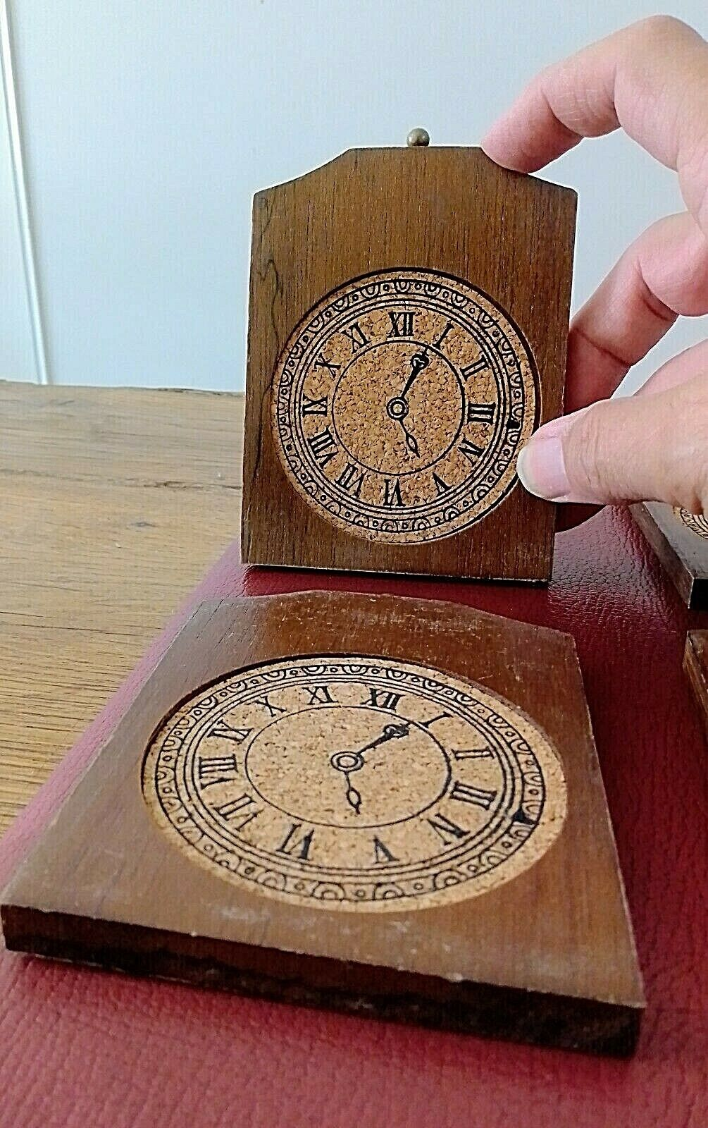 6 dessous de verre en bois et liÈge dans leur boite