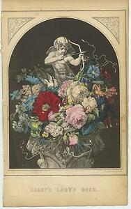 ANTIQUE-DOVES-CUPID-BOW-ARROW-GARDEN-FLOWERS-ROSES-SHEEP-URN-DISTRESSED-PRINT