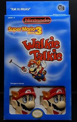 vintage Nintendo SUPER MARIO BROS 3 Raccoon Walkie Talkie toy set MIB unused NES for sale  Shipping to India