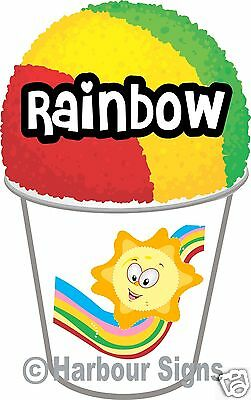 2 Rainbow Shave Shaved Ice Snow Cone Italian Decal 7 Concession Food Truck