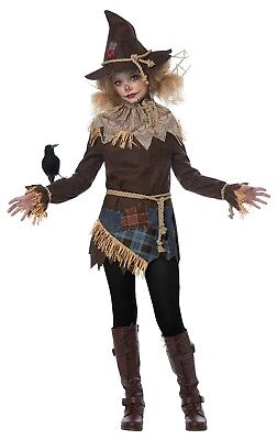 California Costumes Creepy Scarecrow Child Girls Costume Cosplay Party 04097