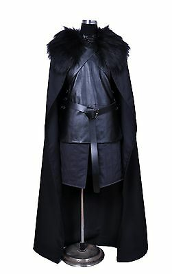 2017 Game of Thrones Jon Snow Cosplay Costume Halloween Medieval Costume Vest