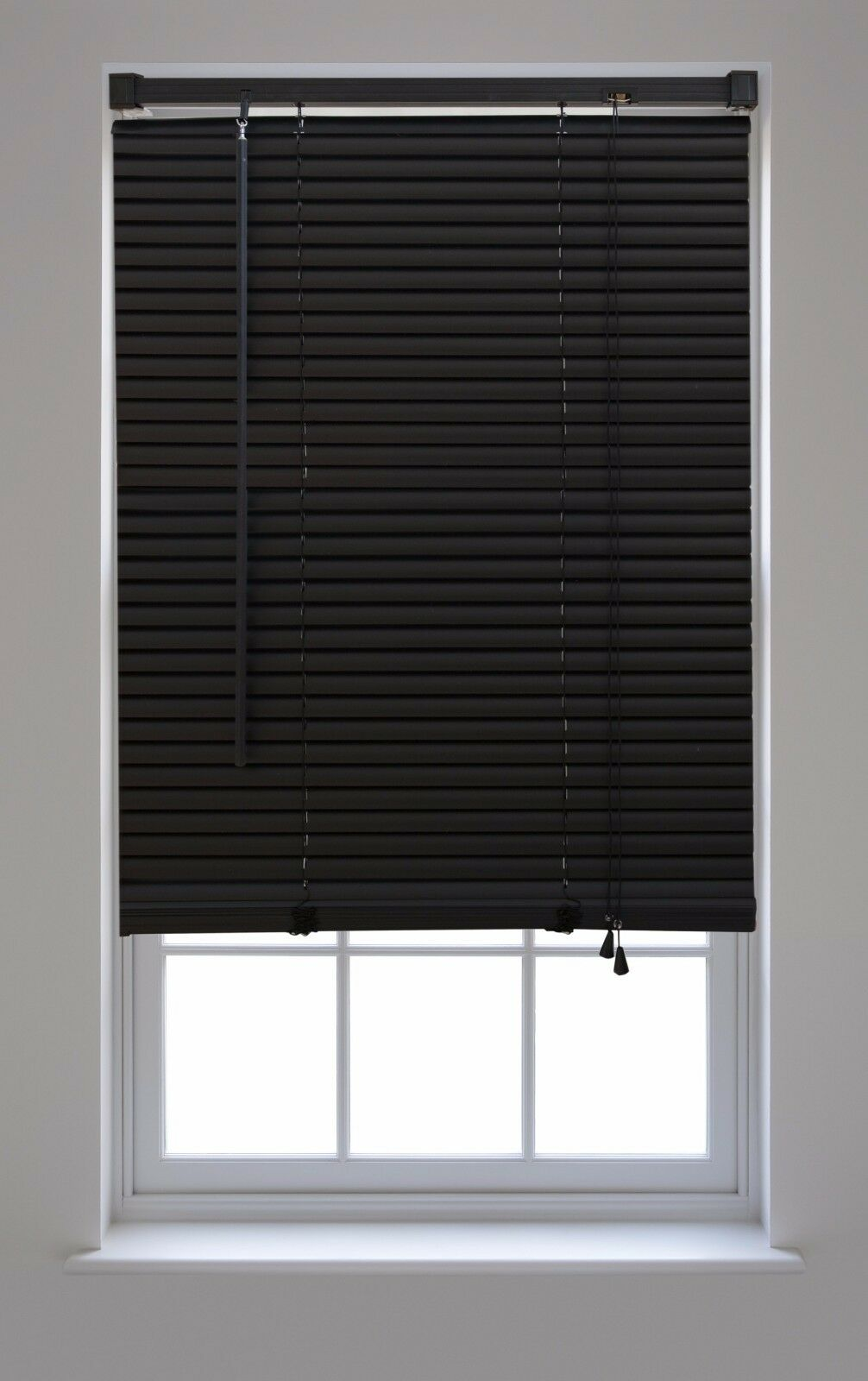 Black Window Blind Venetian Cover Shade PVC Curtain Sun Shutter Screen 27 Sizes