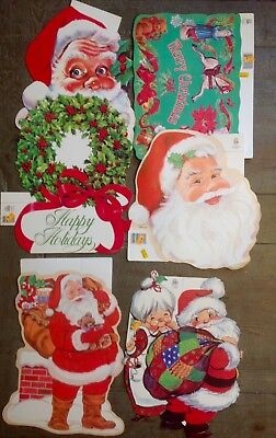 Vintage Eureka Christmas Die Cut Paper Decorations Lot 80s XMas Beistle - 80s Decorating Style