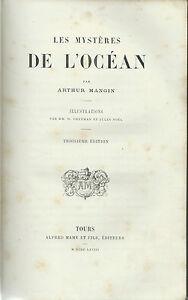 Mangin - Le Mystères de l'Océan - III Edizione 1868 Mame Tours - Biologia Marina - Italia - Restituzione con condivisione delle spese postali - Italia