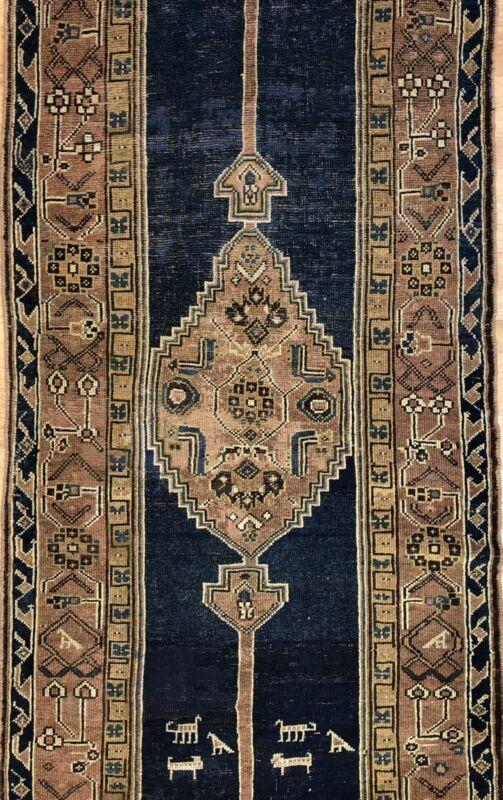 Amazing Azerbaijani - 1880s Antique Tribal Rug - Azeri Runner Carpet 3.6 X 14.6