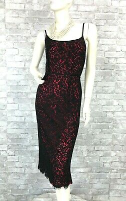 Michael Kors New Black Pink Cotton Lace Cocktail Dress 4 US 40 IT S Runway Auth