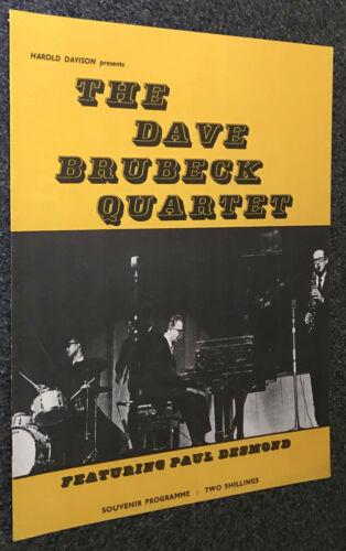 DAVE BRUBECK QUARTET UK 1962 SOUVENIR PROGRAMME-PAUL DESMOND/RONNIE SCOTT-SUPERB