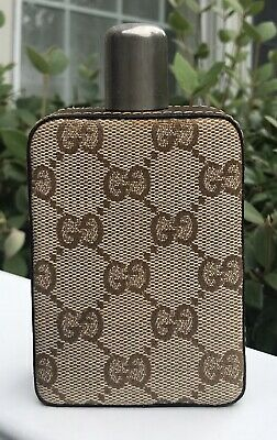 Vintage Gucci Brown GG Monogram Flask