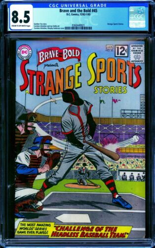 Brave and the Bold #45 CGC 8.5 -- 1962 -- Strange Sports Stories. #0360440021