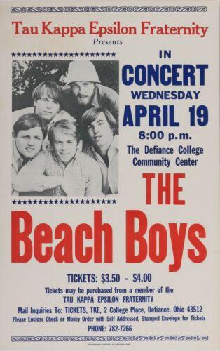 Beach Boys Defiance College Community Center concert poster Vintage 1967
