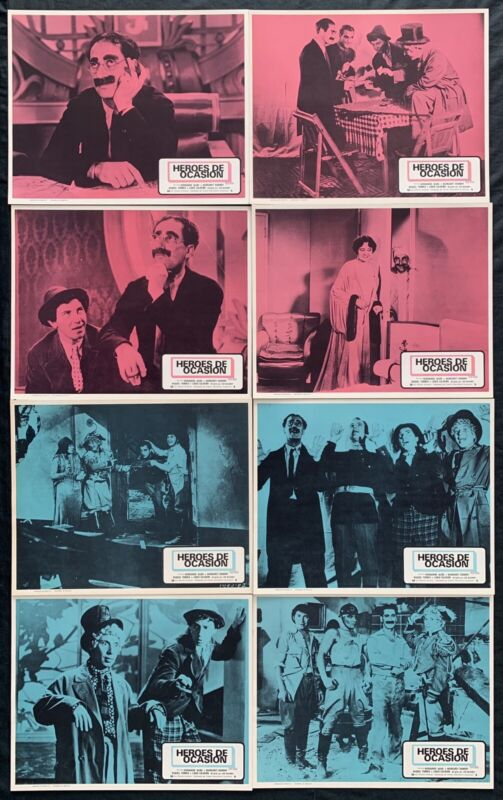 THE MARX BROTHERS Duck Soup LOBBY CARD SET 1933R NEVER USED