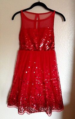Young Girls Dress (Red Party Dress, Stunning & Sparkly!! Fully Lined, NWT Macys -Young Girl Size)