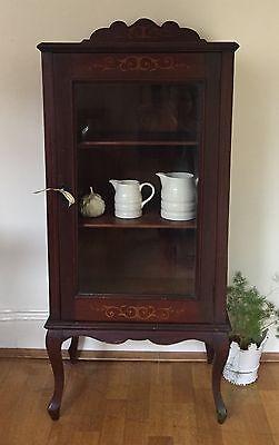 Edwardian Inlayed Mahogany Display Cabinet with Shelves