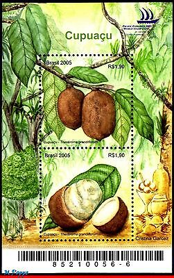 2953 BRAZIL 2005 CAPUACU FRUIT, FRUITS, TREE, PLANTS, NATURE, S/S MNH