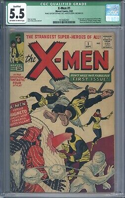 X-Men #1 CGC 5.5 Qualified 1st App of the X-Men and Magneto Original 1963