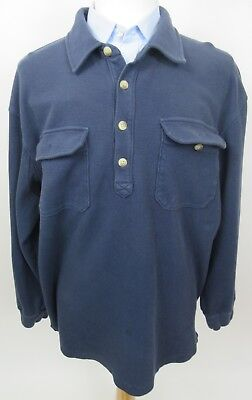 DULUTH TRADING CO 100% Cotton Heavyweight 2-Pocket Rugby Shirt, XXL, Blue  (Cotton Heavyweight Rugby)