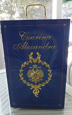 NIB FRANKLIN MINT FABERGE DOLL WARDROBE TRUNK 4 CZARINA ALEXANDRA  +COA 10LB   for sale  Anniston