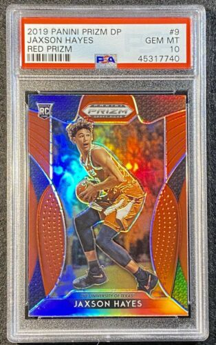 2019 PANINI PRIZM DRAFT PICKS 9 JAXSON HAYES RED PRIZM GEM MINT PSA 10 ROOKIE - $26.00