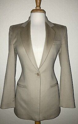 ARMANI Collezioni-Button Front Cashmere Jacket/Blazer-Size 4-Italy