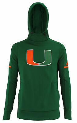 adidas NCAA Women's Miami Hurricanes Climawarm Team Logo Fleece Hoodie, -