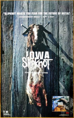 SLIPKNOT Iowa: 10th Anniversary Edition RARE Tour Poster +FREE Rock Metal Poster