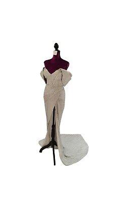 Raisa Vanessa sequined silver dress size EU 38