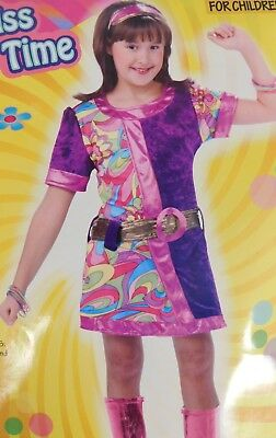 Girls Disco Clothes (Lil Miss Funky Time Girls 60s Disco Halloween Dress-Up Costume 8-10 Medium)