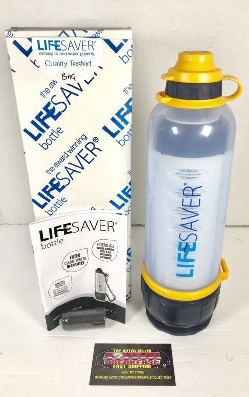LIFESAVER Bottle 4000UF Water Filtration Purifier 750ml PRD0100 - New In Box!