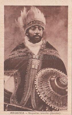 ETHIOPIA - Abissinia - Negadras Uorché (Gondar)
