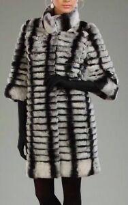 Manteau de fourrure de REX CHINCHILLA veritable