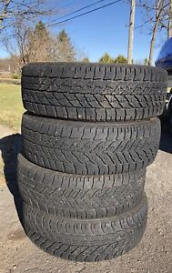 "16"" Goodyear Ultragrip winter set of 4 tires 235/55/R16"