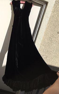 Vintage Black Velvet Dress Fashion Originators Guild 1930s 30s