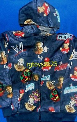 WWE John Cena HHH Kofi Kingston Size 4-5 XS Sweatshirt Jacket Hoodie New - Kofi Kingston Kids