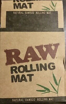 Bamboo Paper (RAW Bamboo Rolling Mat - 1 ROLL - Portable Natural Gummed Hand Tray Paper)