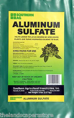 Aluminum Sulfate 5lbs For Acid Loving Plants Lowers Ph Hydrangea Blue