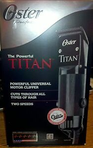 Oster-TITAN-Heavy-Duty-Clipper-w-cryogen-x-blade-system-76076-310-NEW