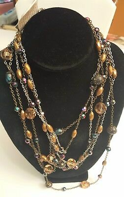 Costumes Buy (BUY ONE GET ONE FREE Triple Necklace Fashion Costume Jewelry 58