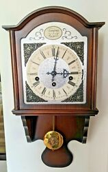 Linden Triple Chime Wall Clock Clean Hermle Movement Working Perfectly