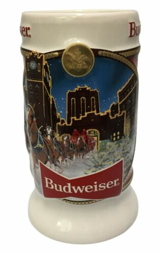 2020 Budweiser Holiday stein from annual Christmas series LATEST NEW BEER MUG!!