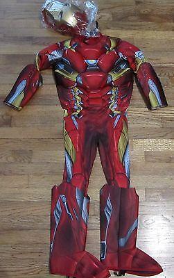 l War Iron Man LIGHTS UP! 3D Costume Marvel Rubies 17774 NEW (Iron Man Light Up Kostüm)
