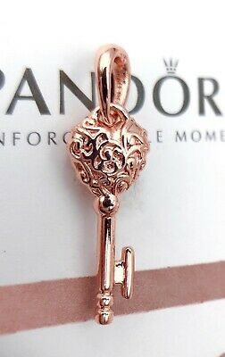 Pandora Rose Gold Regal Key Pendant Charm 387725