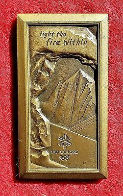 2002 Salt Lake City Olympic Medal Volunteer Medallion  O.C. Tanner
