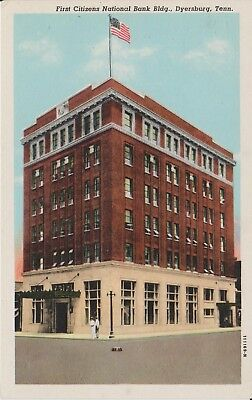 1930S The First Citizens National Bank In Dyersburg  Tn Tennessee Pc