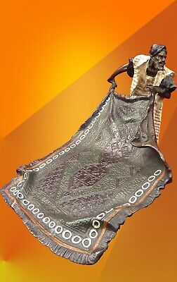 ART DECO Carpet Seller VIENNA BRONZE STATUE FIGURE BERGMAN HOT CAST SCULPTURE