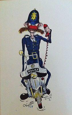 Vintage 'CARNABY STREET' London Bobby KARDORAMA Policeman 1960's POSTCARD