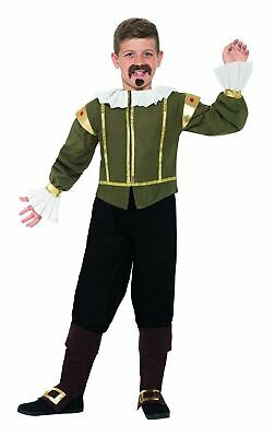 Boys Book Week William Shakespeare Costume Kids Fancy Dress Outfit