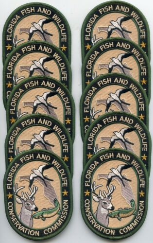 FLORIDA STATE FISH GAME WILDLIFE Trade Stock 10 Police Patches DNR POLICE PATCH